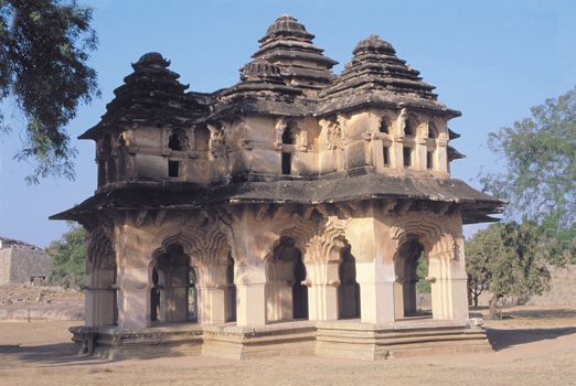 """Sanskrit """"City of Victory"""" great ruined city in southern India and also the name of the empire ruled first from that city and later from Penukonda (in Anantapur district, Andhra..."""