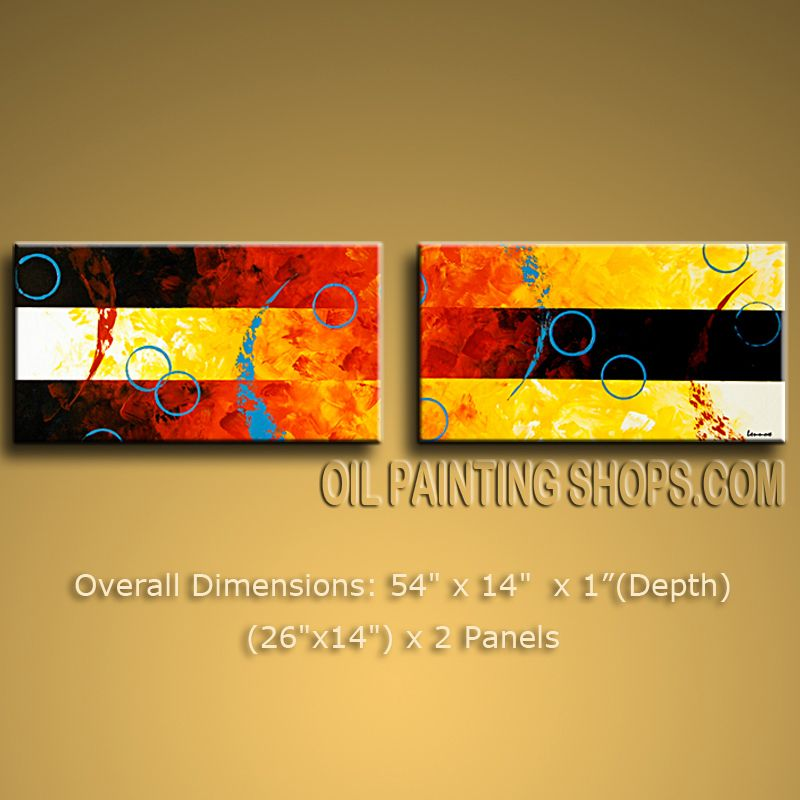 Hand-painted Amazing Modern Abstract Painting Wall Art Contemporary Decor. In Stock $128 from OilPaintingShops.com @Bo Yi Gallery/ ops9321