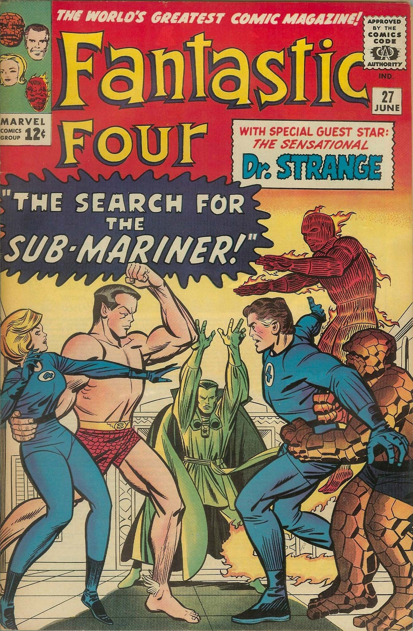 Fantastic Four #27. 1964. Jack Kirby / Chic Stone.