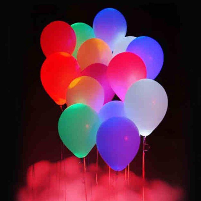 LED Light Ball Luminous Latex nitrogen Balloons Christmas Halloween