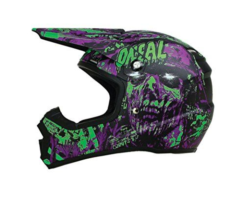 5 Green Metal Mulisha Skull Stickers For Dirt Bike MTB Motocross Helmet BMX