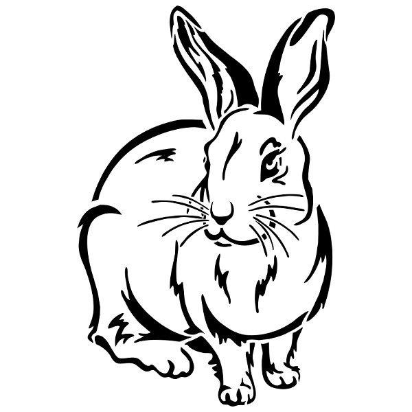 Ideen mit Herz Fenster kunststoff Schablonen Hasen