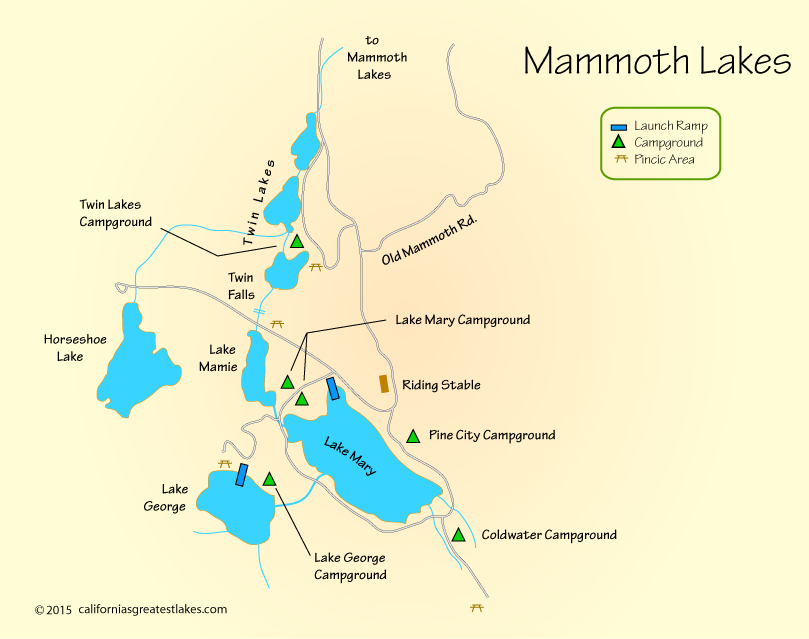 Map of mammoth lakes ca home pinterest cas lakes for Mammoth lakes fishing