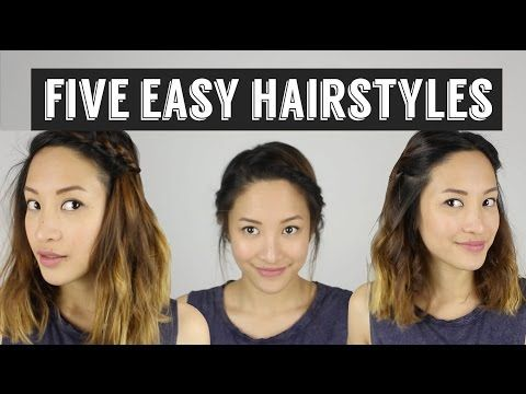 Five Quick Easy Hairstyles How To Style Medium Length Hair Medium Hair Styles Easy Hairstyles Medium Length Hair Styles