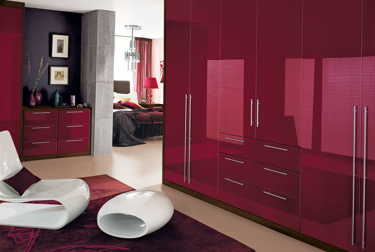 Black and red bedroom furniture - Purple High Gloss Bedroom Furniture