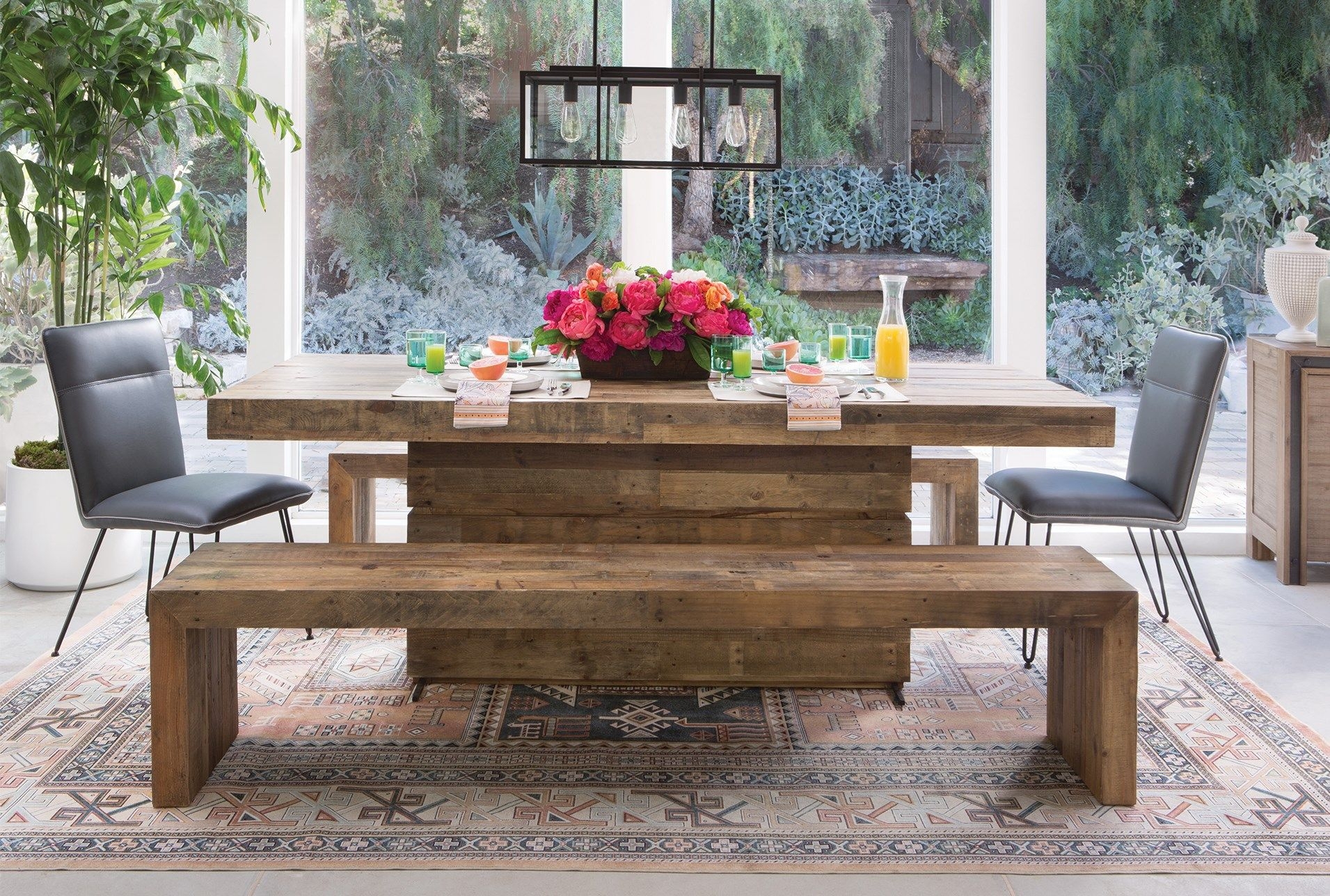 Tahoe Ii 89 Inch Dining Table Room Living Spaces Furniture