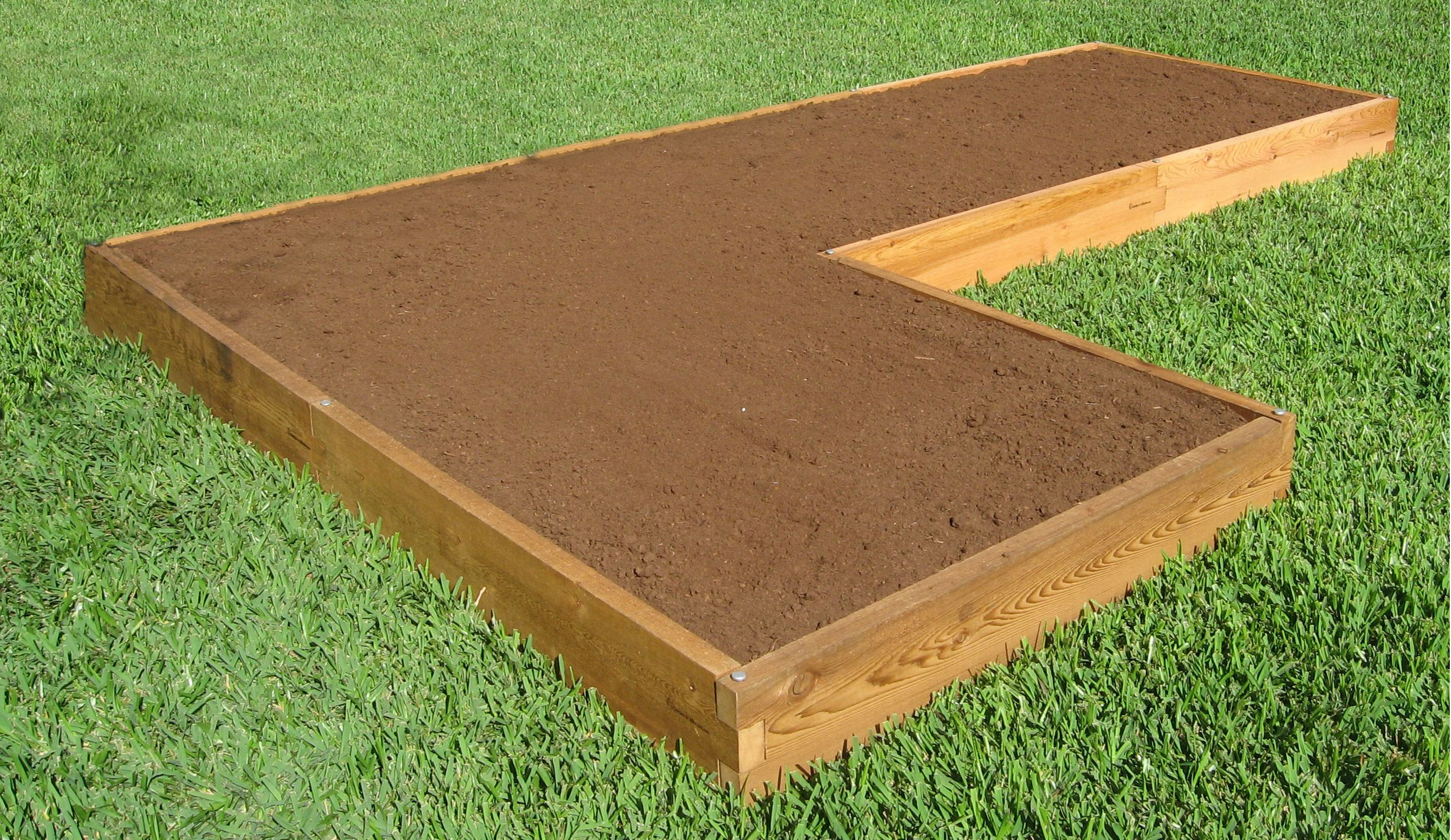 The L Shaped Raised Garden Bed By Gardeninminutes Com Modular