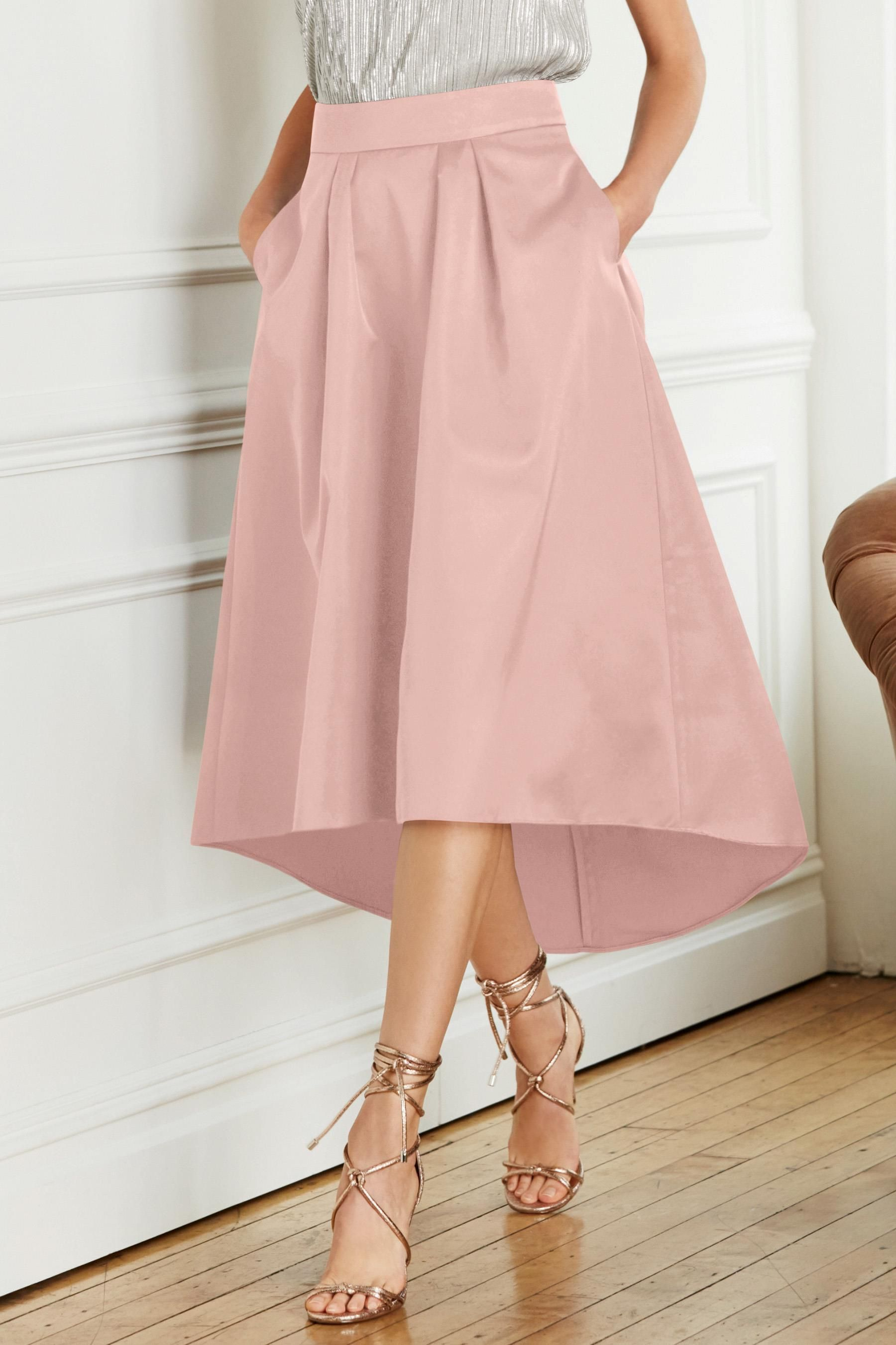 90df993570 Buy Blush Dipped Hem Full Skirt from Next Australia | Pretty | Full ...