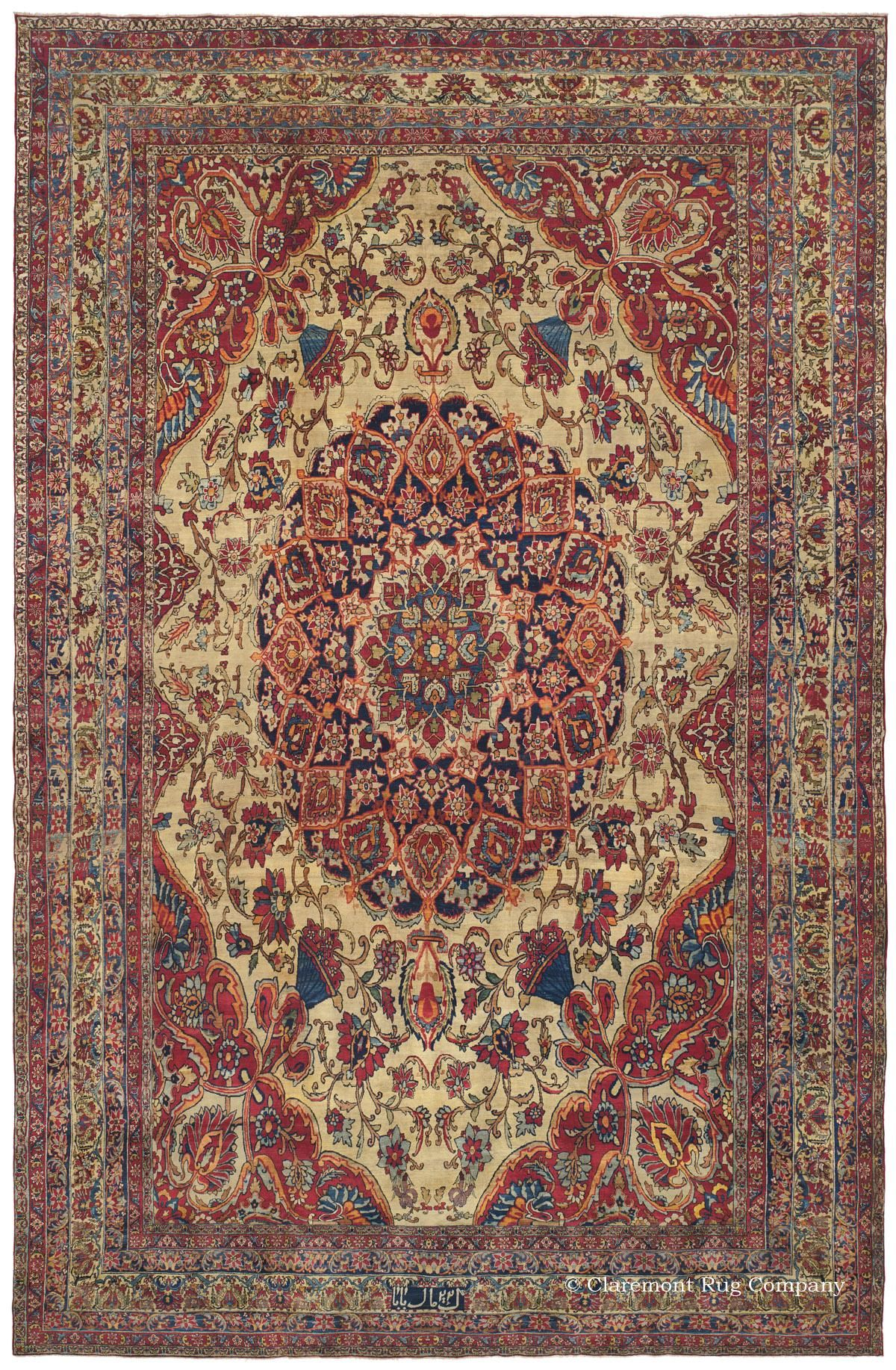 Laver Kirman Malek Baba 12ft 9in X 19ft 5in 2nd Quarter 19th Century This Museum Level Antique Carpet Rugs Antique Persian Carpet Antique Oriental Rugs
