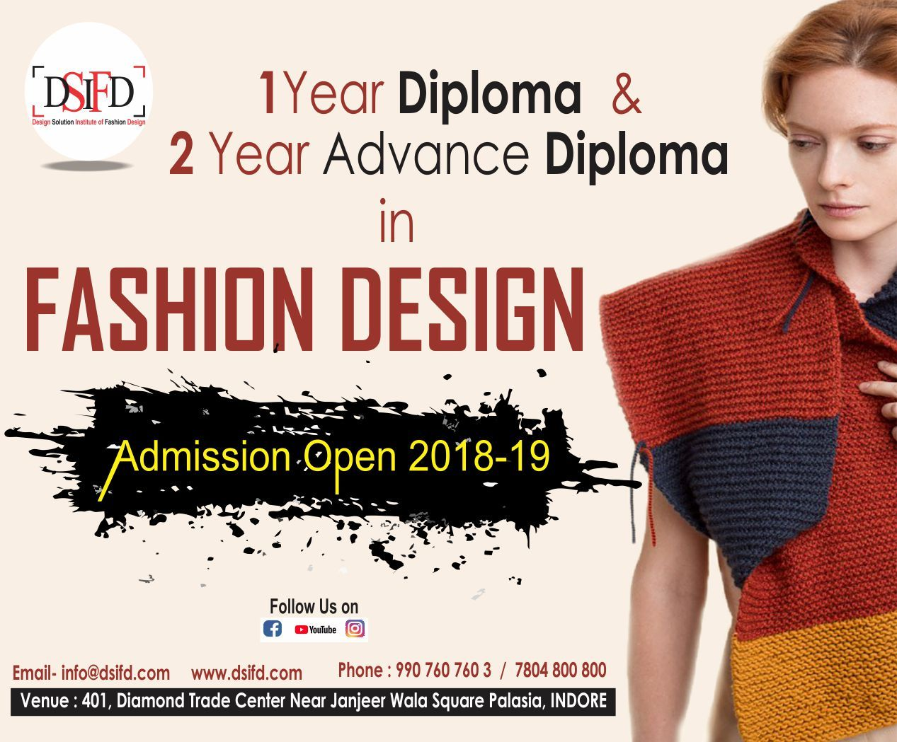 Become A Fashion Designer Make Crazy This World To Follow Your Style Diploma In Fashion Designing Fashion Designing Colleges Fashion Designing Institute