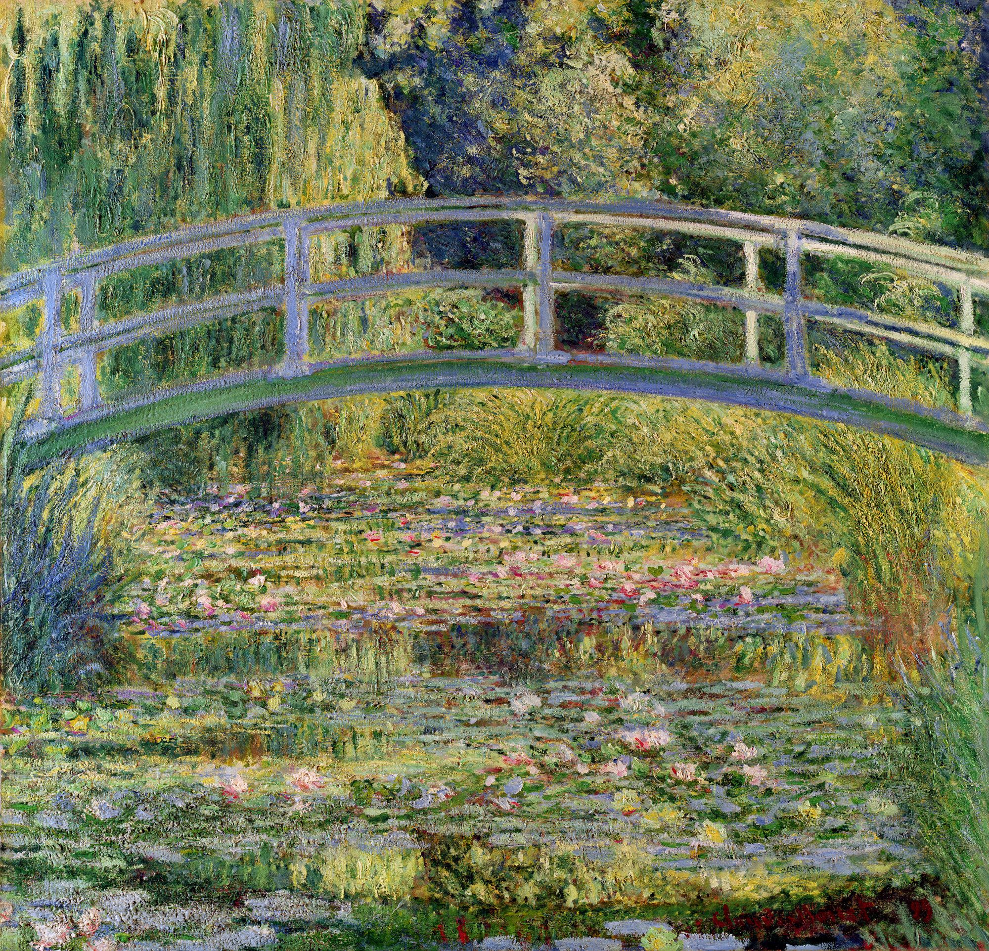 Claude Monet Cuadros The Japanese Bridge The Water Lily Pond Claude Monet