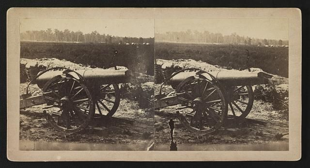 """""""The Confederates had only field pieces with which to defend their works...battered guns...were mounted in the camp of Duryea's and Bainbridge's battery..."""""""