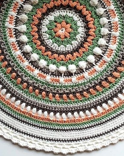 Free Pattern Stunningly Beautiful Crochet Mandala Pattern Crochet