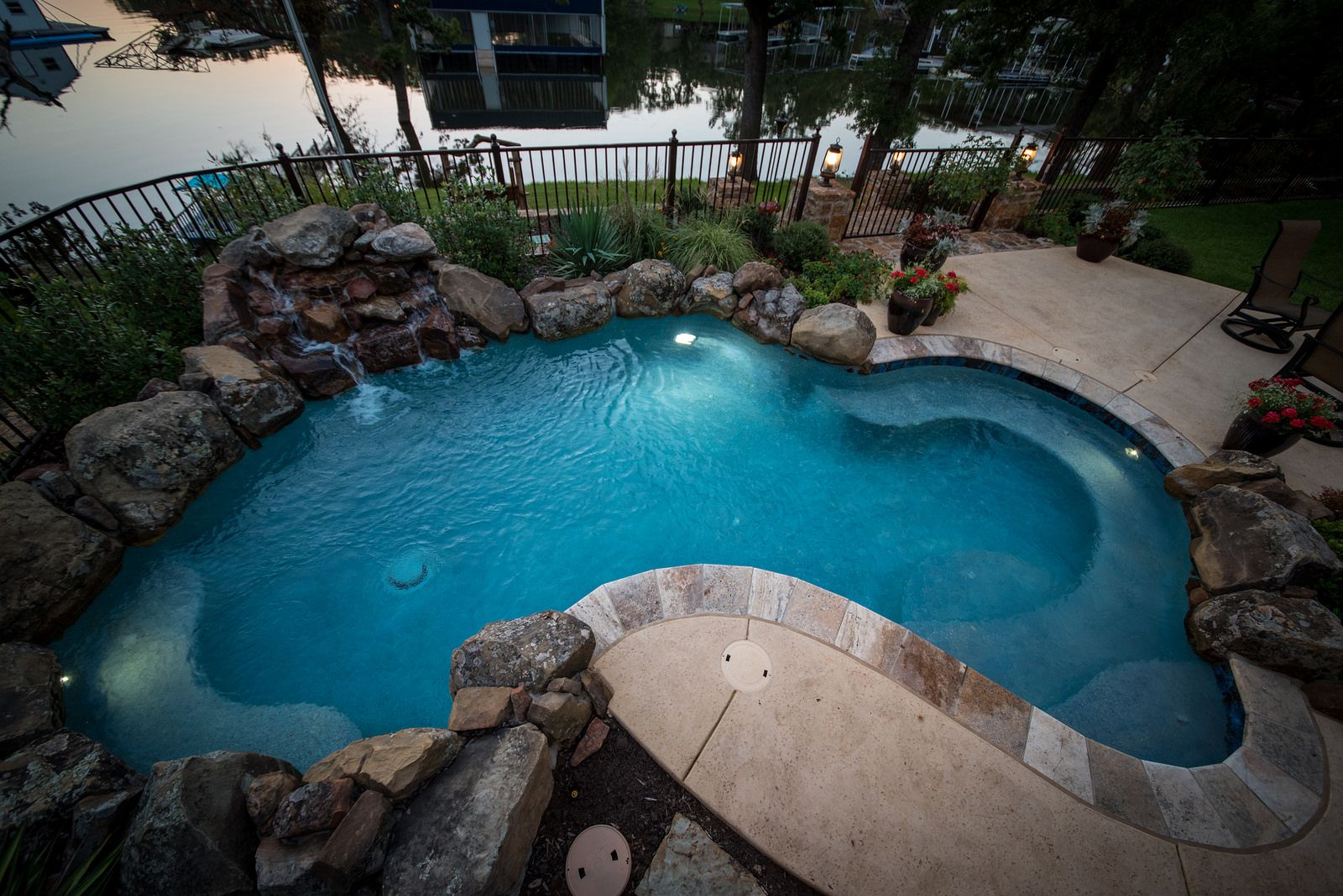 Freeform style pool with waterfall | Small backyard pools ... |Small Freeform Pools With Waterfalls