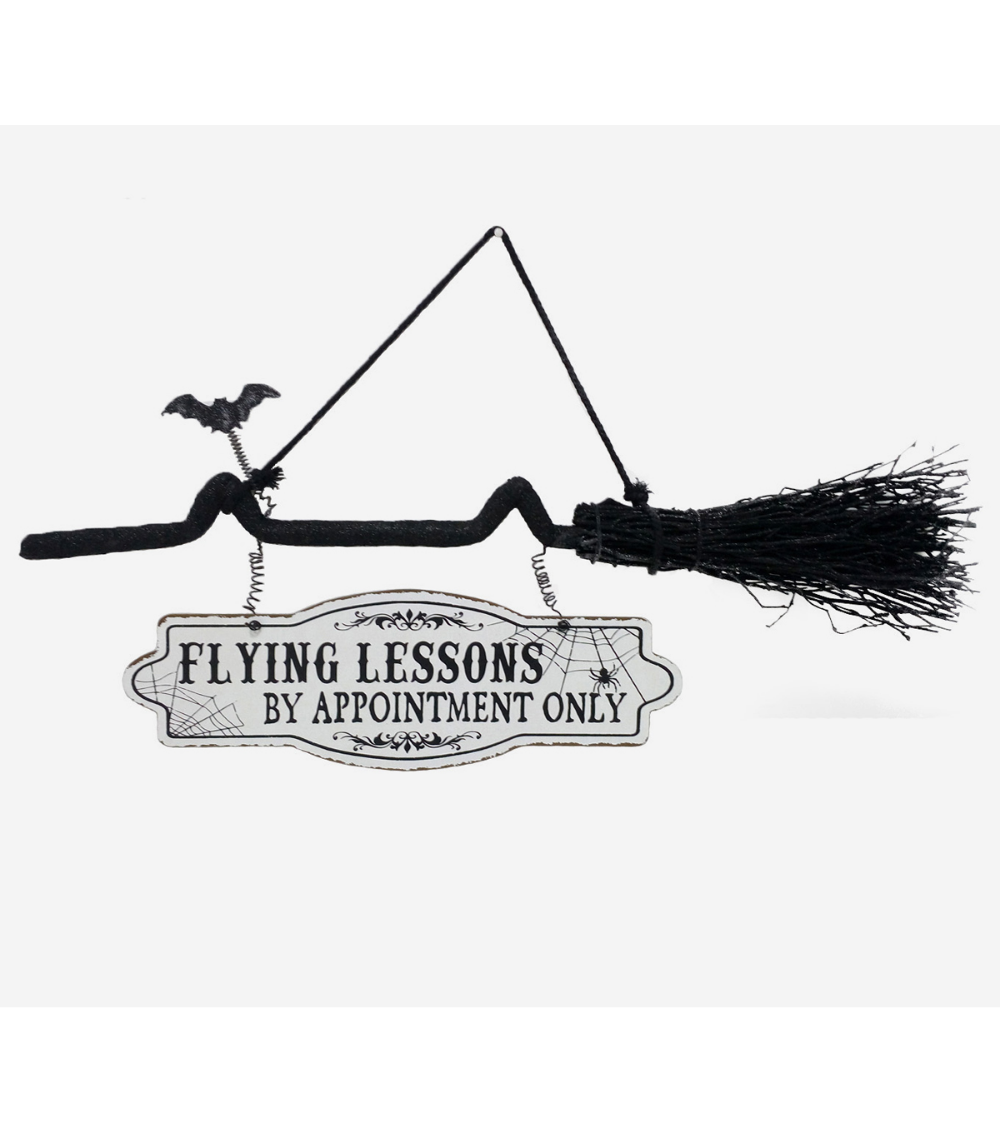 Maker's Halloween Broom Wall DecorFlying Lessons by