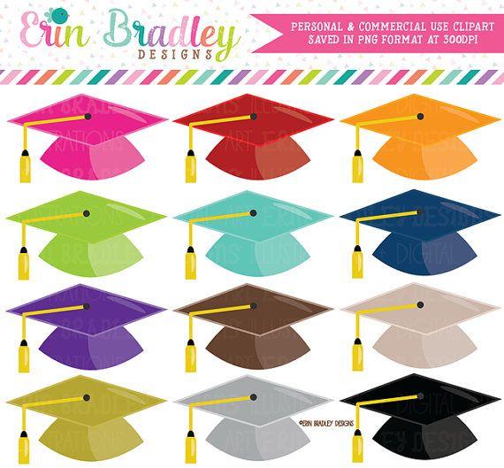 Graduation Hat Clipart School Clip Art Instant Download Etsy In 2021 Clip Art Planner Stickers Instant Download Etsy