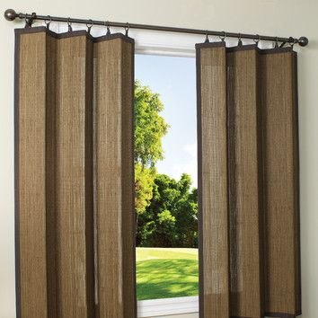 Versailles Home Fashions Indoor Outdoor Bamboo Ring Top Curtain
