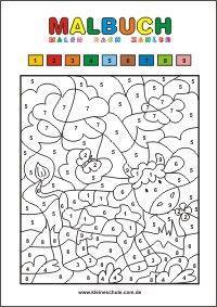 malbuch malen nach zahlen arbeitsbl tter pinterest school lessons kindergarten und math. Black Bedroom Furniture Sets. Home Design Ideas