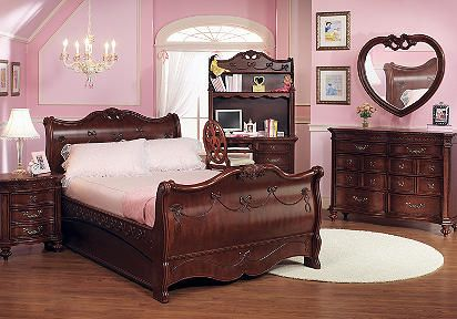 Disney Cherry Sleigh Bedroom Set Bedroom Furniture Stores