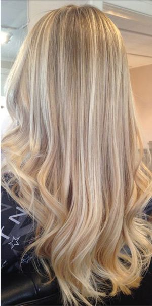 Clip in Human Hair Extensions 7pcs Ash Blonde Highlights (#P16/22)