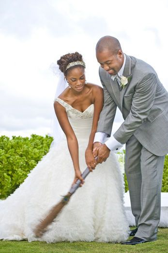 Before Jumping The Broom They Swept Away The Negativity From The