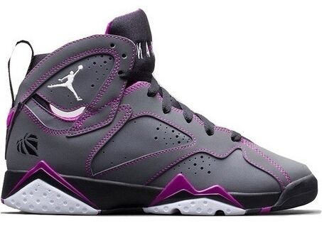 Air Jordan 7 Gs De Blanc / Noir-violet-rose
