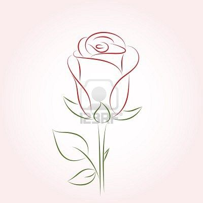 6ab3200e5 Stock Vector   I like tattoos too much   Single red rose, Single ...