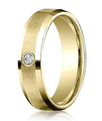 Benchmark 14K Yellow Gold Ring with Single Round Diamond
