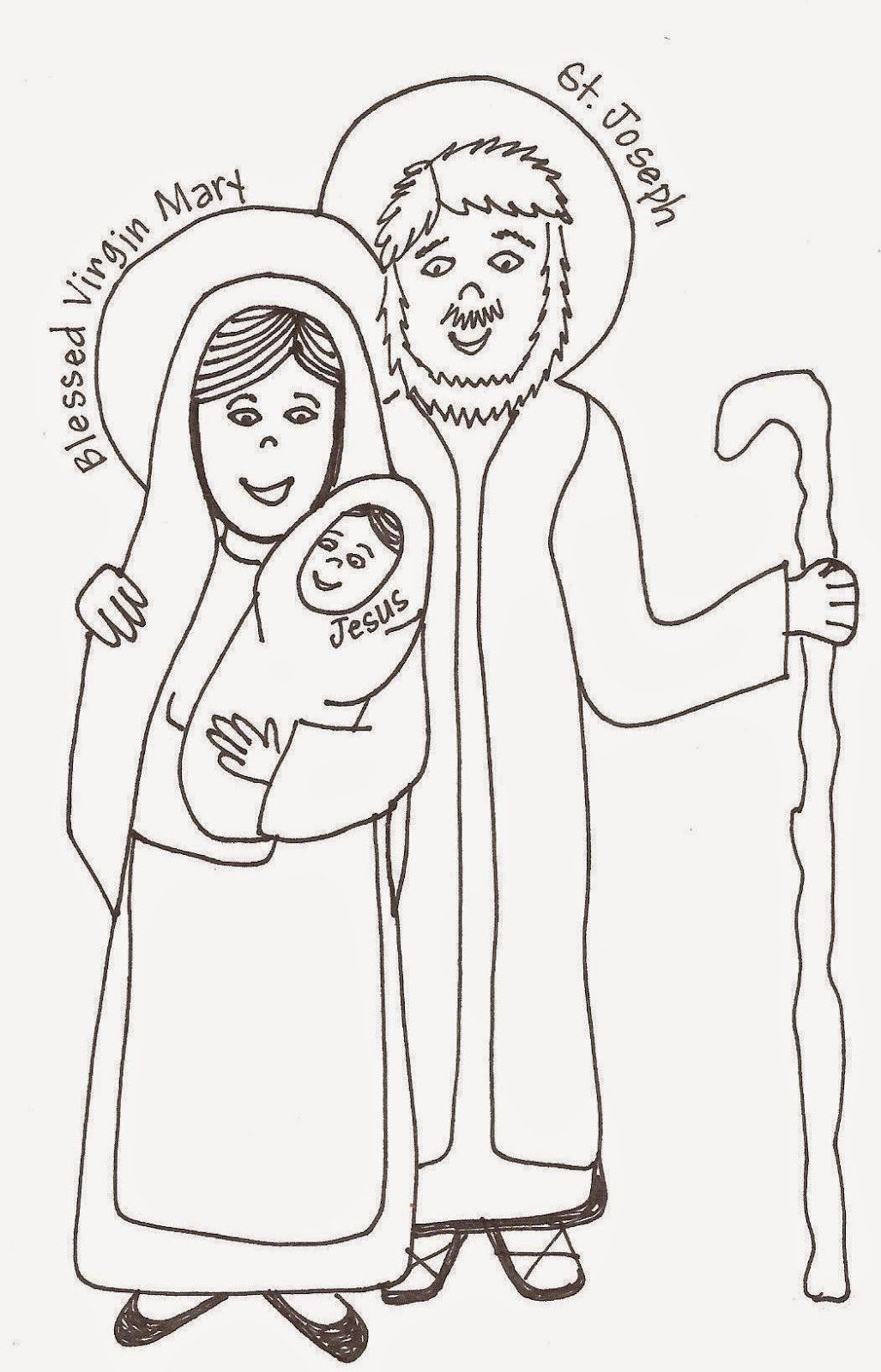 St Joseph Coloring Page Inspirational Look To Him And Be