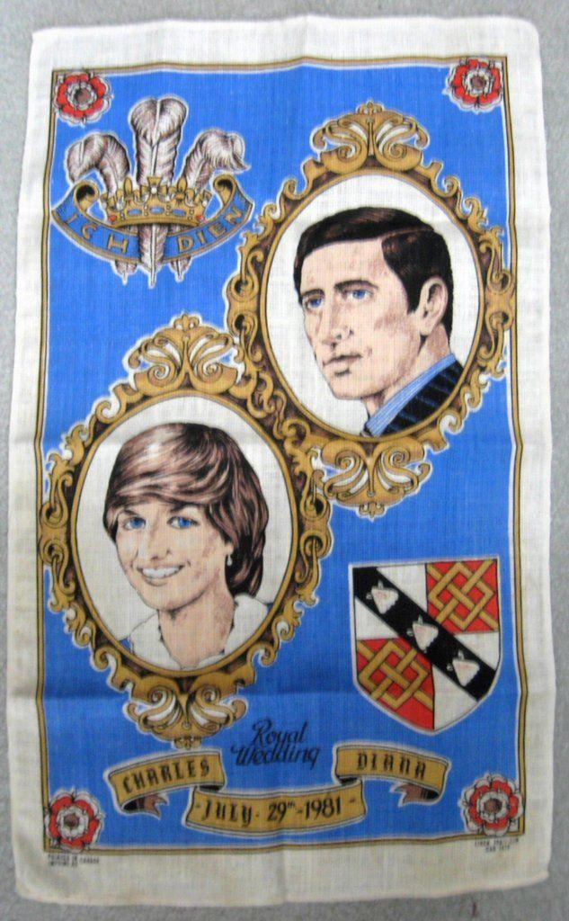 Tea Towel Prince Charles And Princess Diana Royal Wedding