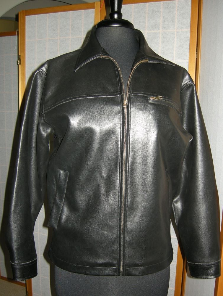 1fef041f5 Faux Leather Jacket Whispering Smith Black Pleather Motorcycle ...