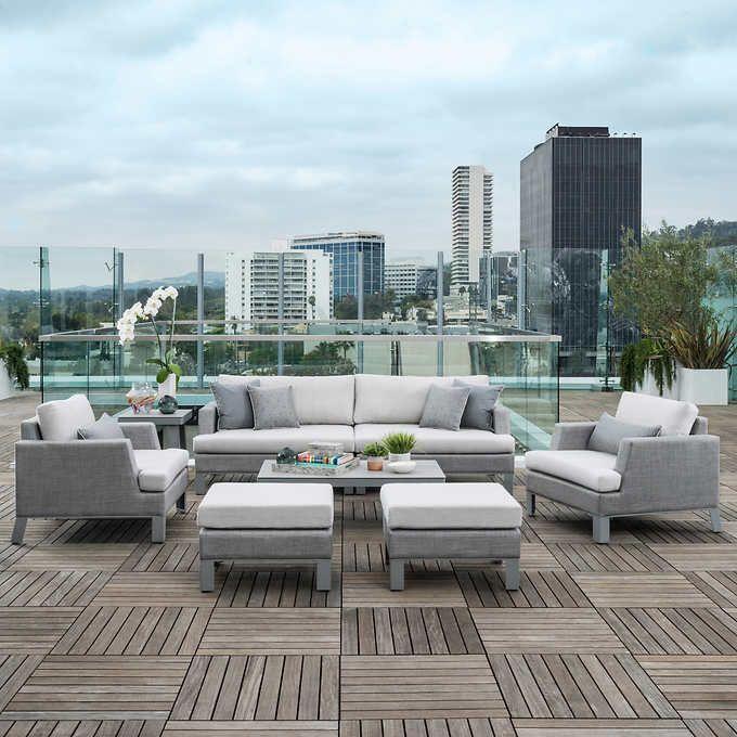 Discount Modern Outdoor Furniture: Modern Sling 8-piece Seating Set