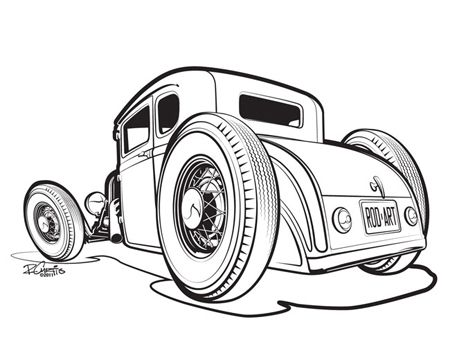 illustration sin customs hot rod car art car art hot rods 1960 Chevy Models illustration sin customs hot rod car art rat fink cars coloring pages