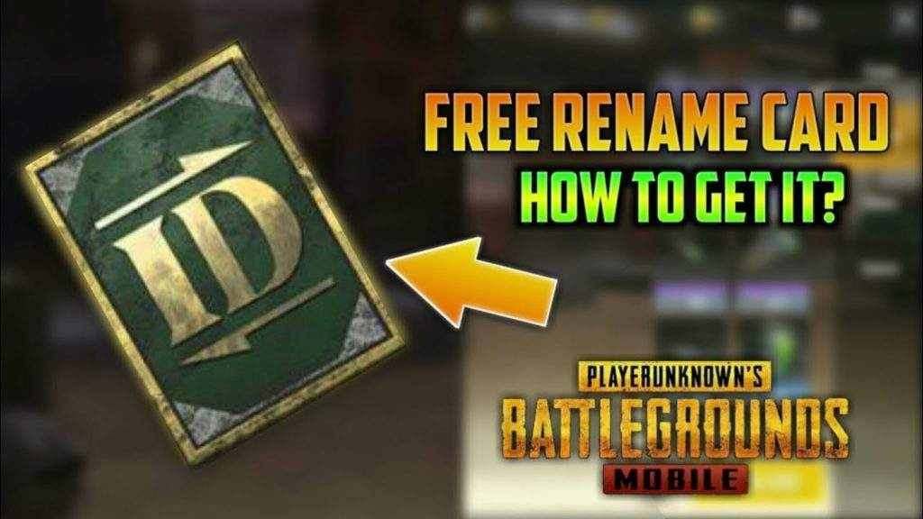 How To Get Another Rename Card Pubg Mobile 100 Free In 2020 Card Tricks Cards Free Gift Cards