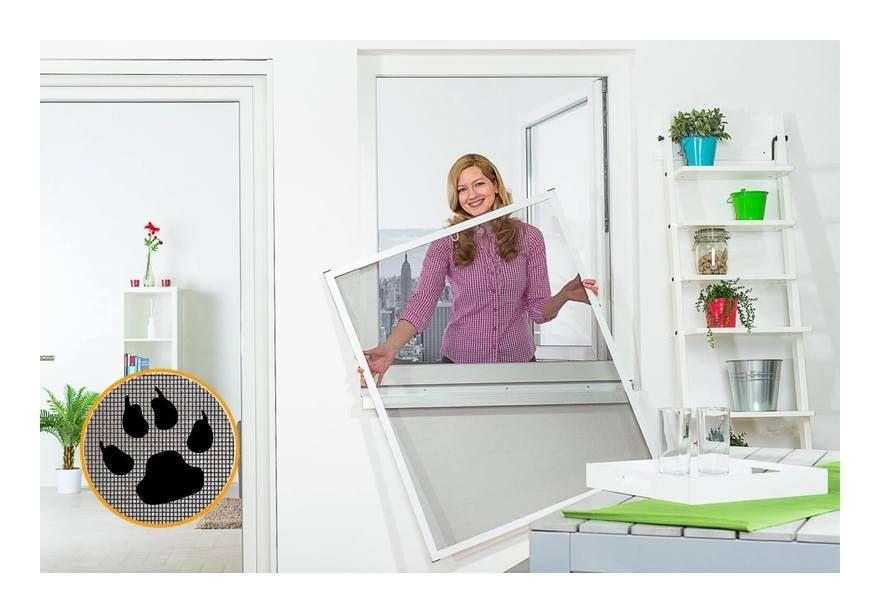 Moustiquaire Cadre Fixe Alu 100 cm x 100 cm Blanc