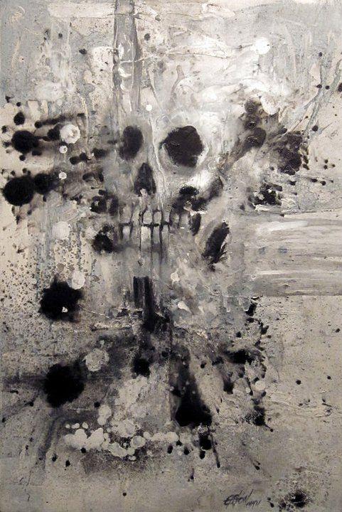 """""""Muerte blanca"""" Acrílico/tela 40x 60cm Vendido"""