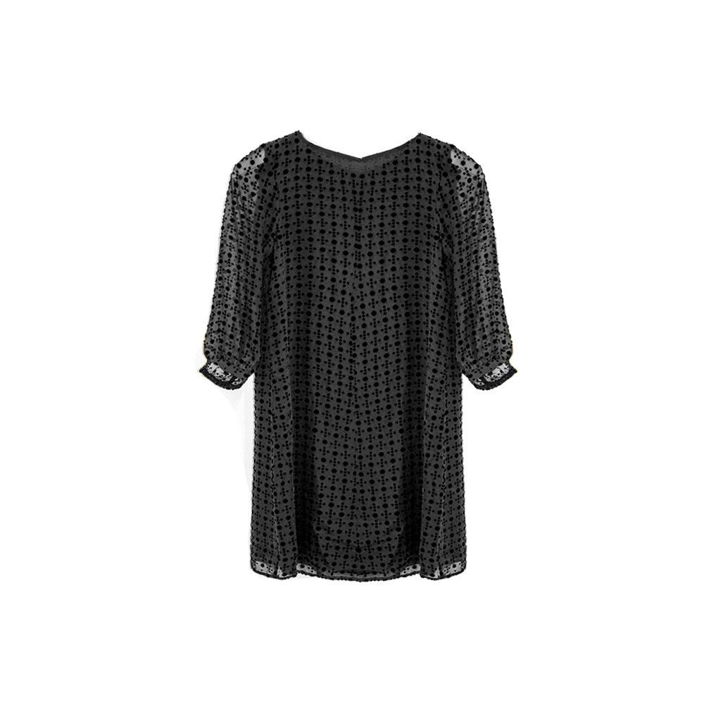 Haley black long sleeve shift dress products pinterest products