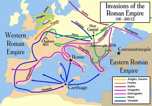Roman invasions 100-500ac