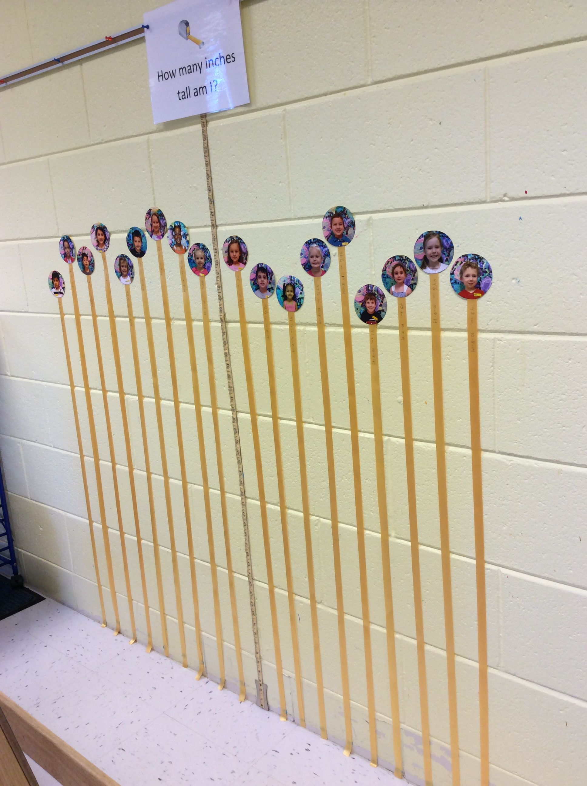 Height Chart After Measuring The Children We Put A Piece Of Ribbon On The Wall With Their