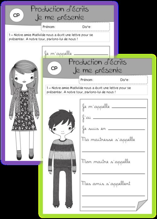 Souvent Se présenter | Expression écrite | Pinterest | École, Cp et Écrire ZB81