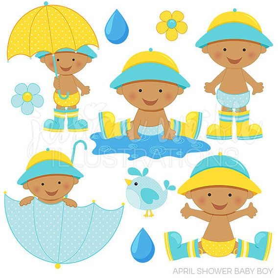 april shower baby boy dark cute digital clipart for invitations rh pinterest com Baby Toys Clip Art Stemless Glass Clip Art