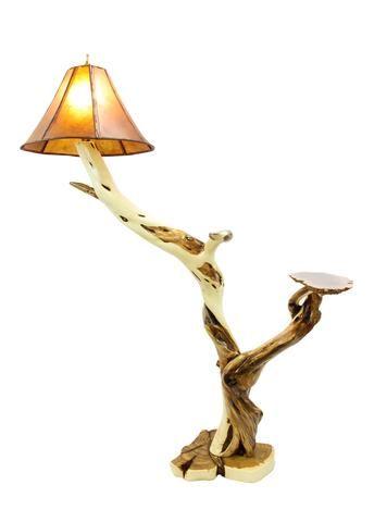 Rustic Wandering Juniper Floor Lamp With Rare Australian Red