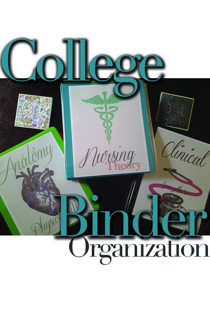 How to organize binders for nursing school