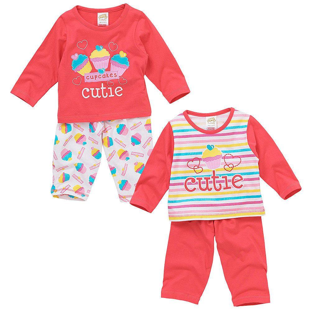 Lullaby Baby Girls Cute Zebra Striped Print Pyjamas