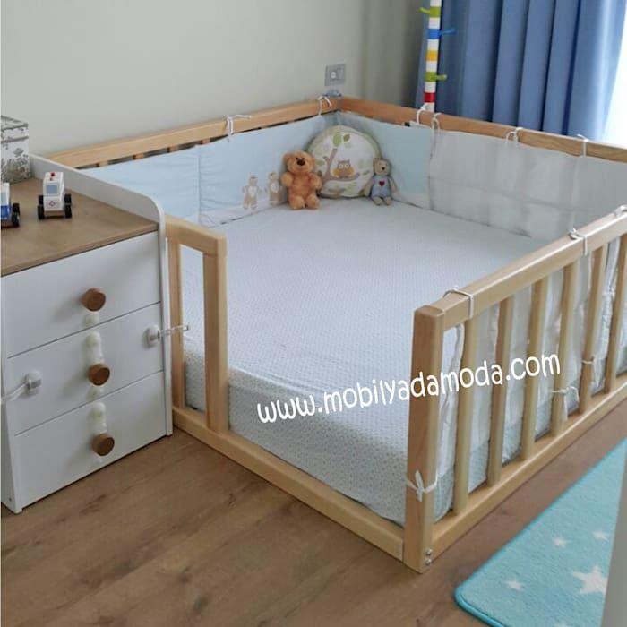 Montessori bebek çocuk odası, montessori yer yatağı modern çocuk odası mobi̇lyada moda modern ahşap ahşap rengi