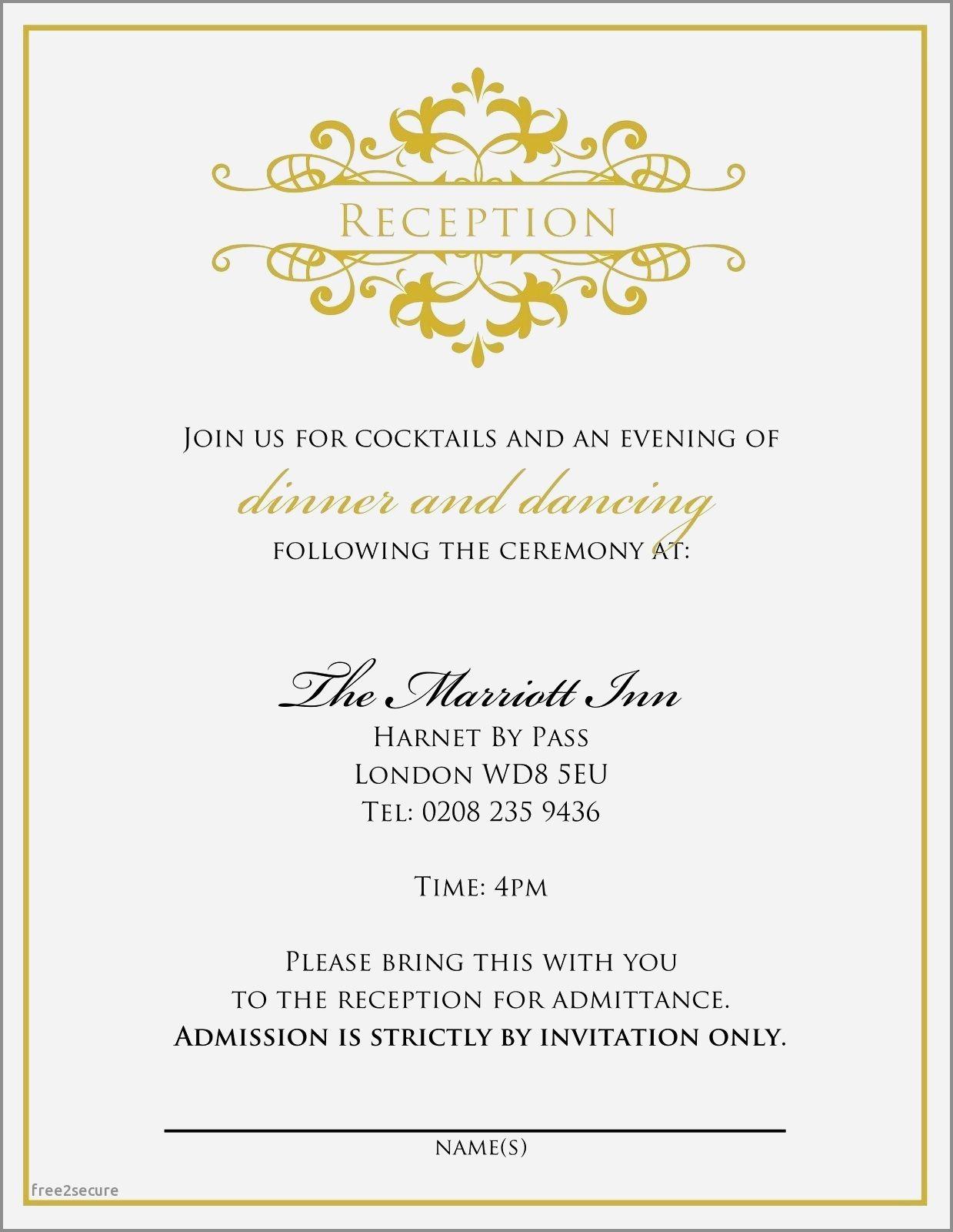 Wedding Reception Invitation Wording