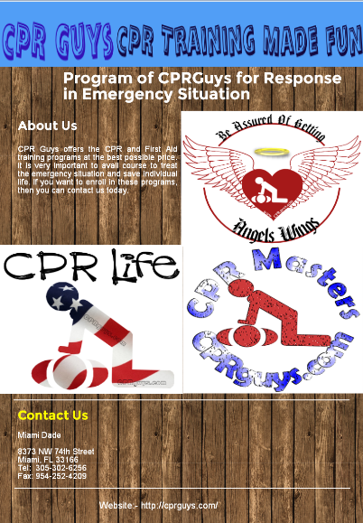 Cpr Guys Offers The Cpr And First Aid Training Programs At The Best Possible Price It Is Very Important To Avail Course To Treat Cpr Classes Cpr Training Cpr