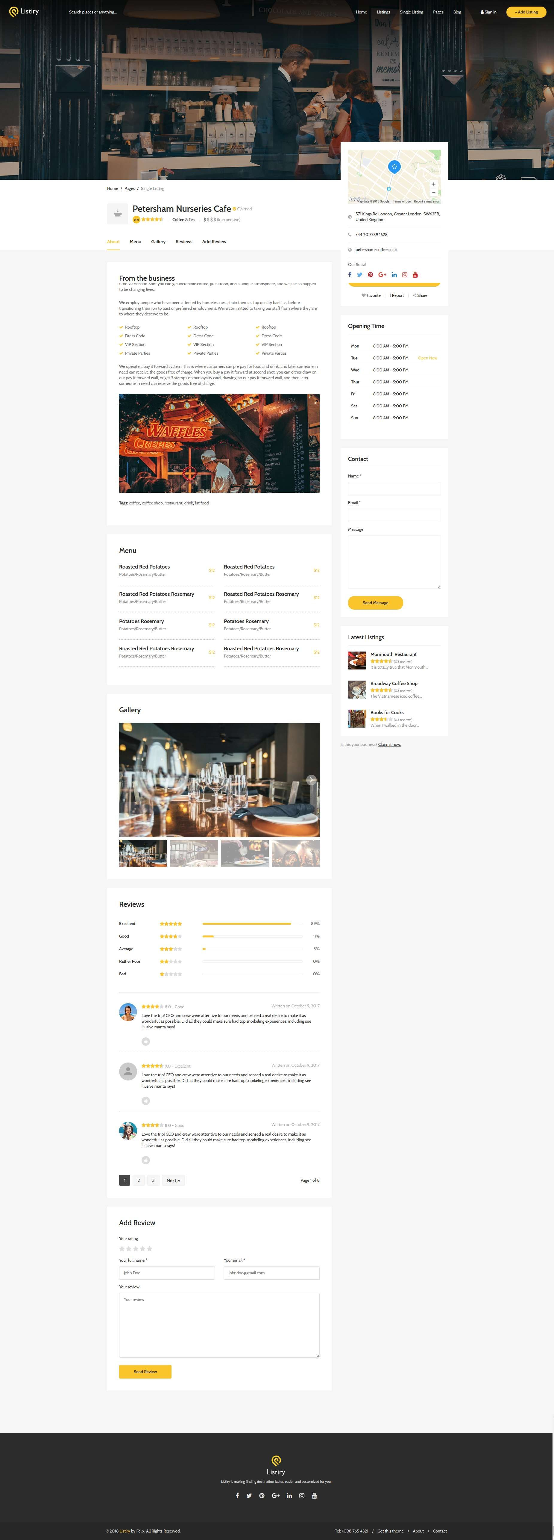 Listiry - Directory & Listing Template #airbnb, #catalog