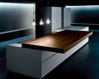 Minimal   Sliding Top Sliding Top Manually Or Electronically Operated  Countertop In Handcrafted Thermo Acacia