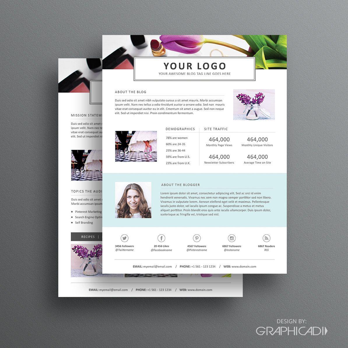 Page Media Kit Template  Press Kit  Pitch Kit  Best Of Etsy